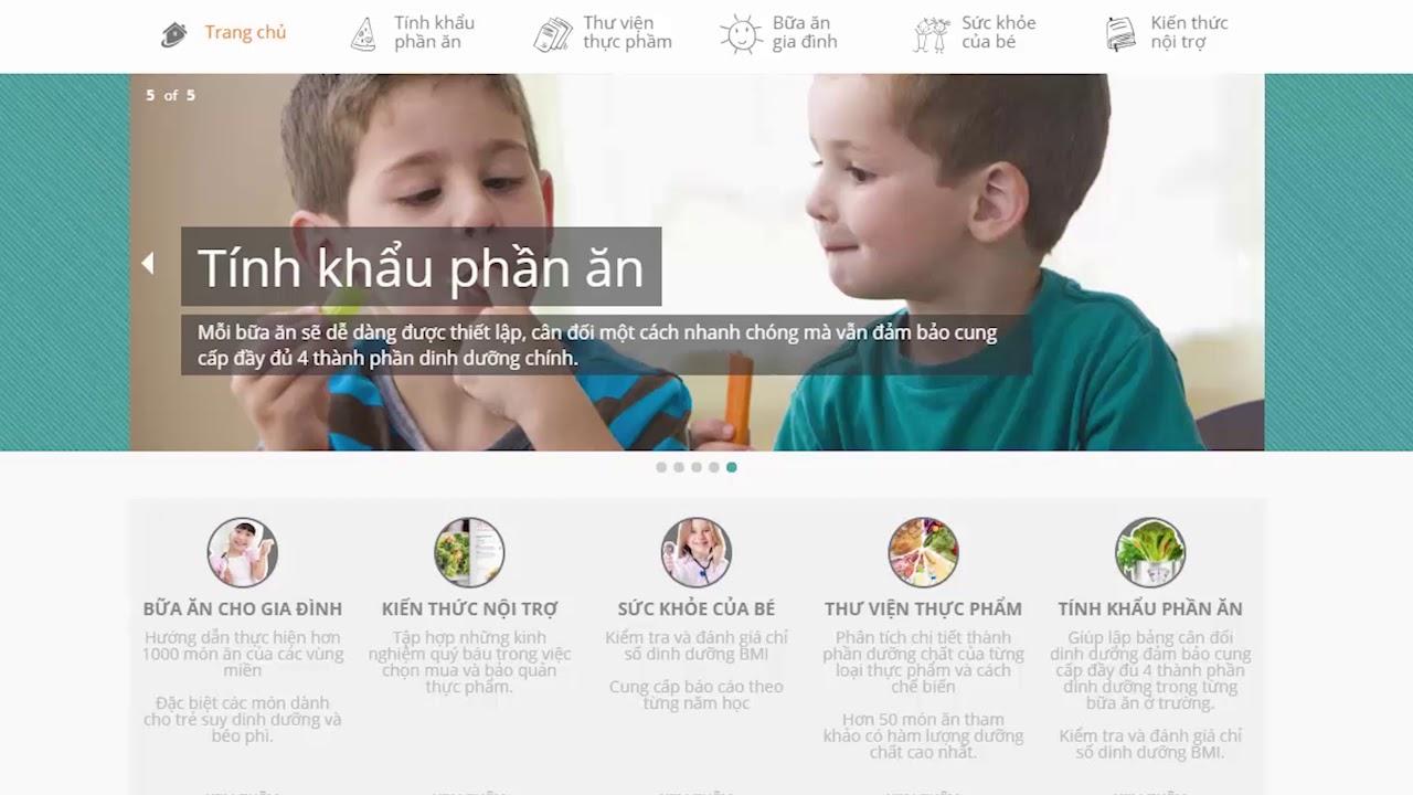 [Hướng dẫn sử dụng] Tập 2: Cách xây dựng khẩu phần ăn – thực đơn cho trẻ | NUTRIKIDS | VsionGlobal