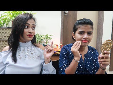 Jab Maine aur Pooja (Househelper) Ne Kiya Ek Sath Makeup - Diwali Vlog & More