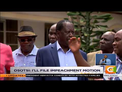 Echesa under fire for attacking Odinga #SundayLive