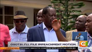 Echesa under fire for attacking Odinga #SundayLive