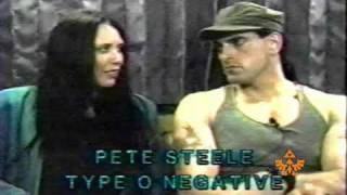 "Santa Cruz, CA Public Access ""HARD ROCK TV"" interviews PETER STEELE - TYPE O NEGATIVE in 1997 pt.1"