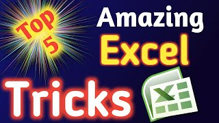 5 Amazing Excel Tips and Tricks in excel tutorials in Hindi
