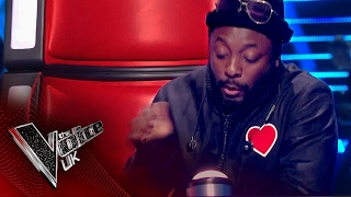 will.i.am Accidentally Presses His Button! | The Voice UK 2017