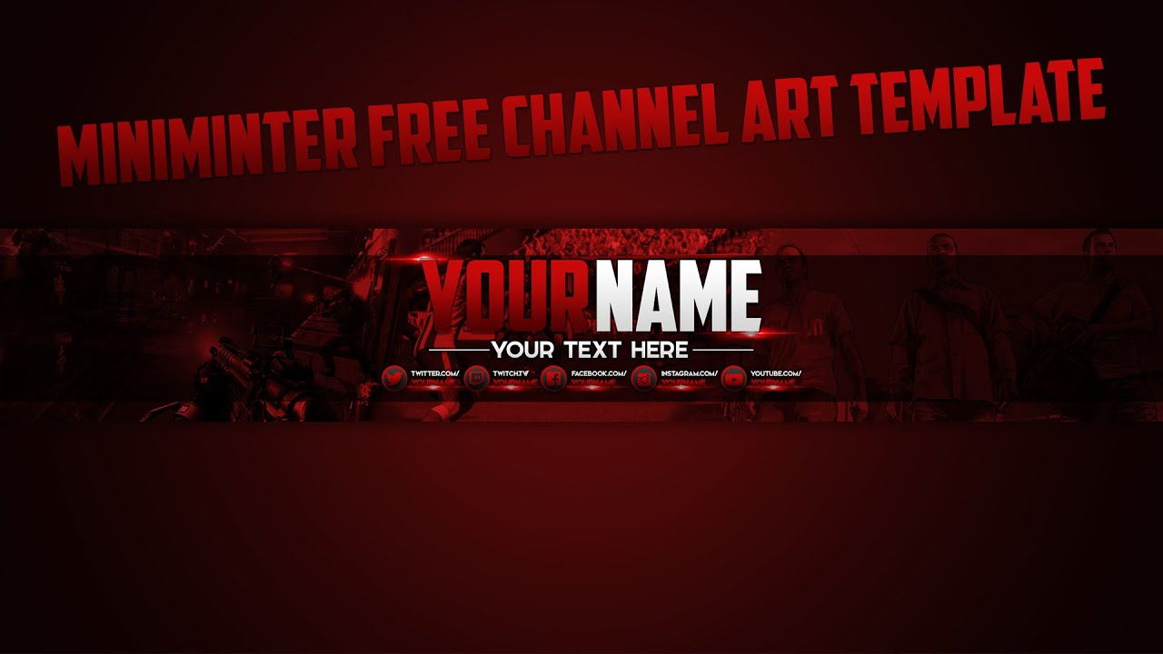 Miniminter based channel art template free youtube miniminter based channel art template free maxwellsz