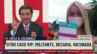 Habló la becaria de 18 años vacunada en Avellaneda: