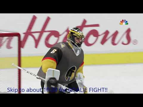 A GOALIE FIGHT?!! | Maple Leafs vs Golden Knights | NHL 17