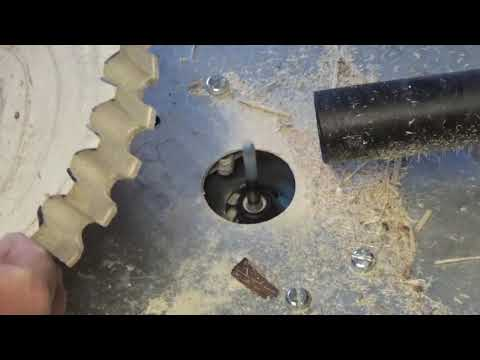 Making a router table then some wooden gears
