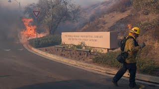 Watch live: California firefighters battle wildfire surrounding Reagan Library in Simi Valley