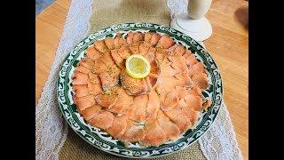 Строганина, Самая быстрая закуска из красной рыбы