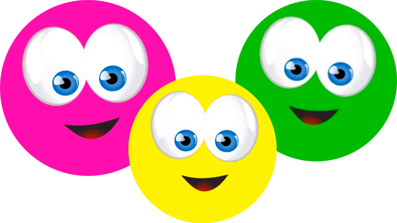 Learn Colors With Happy Faces, Teach Colours, Baby Toddler