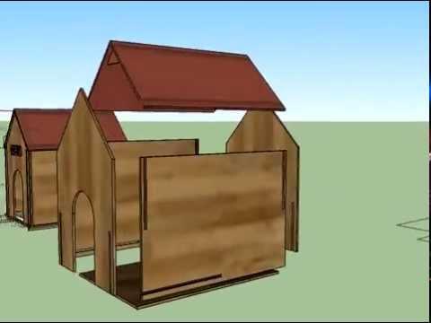 Casa para perro sketchup youtube for Programa para distribuir una casa
