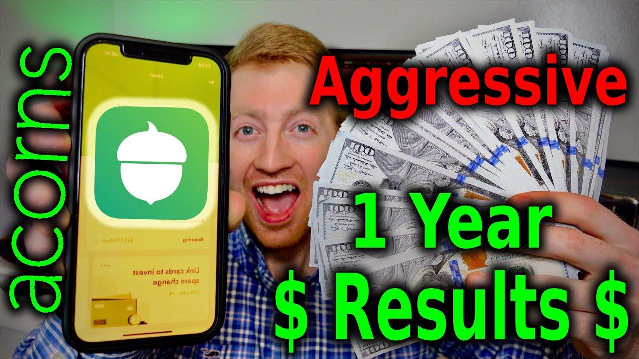 Download Acorns Aggressive Portfolio Returns After 1 Year (2021)   Acorns Investing App Results