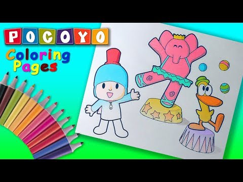 Pocoyo Coloring Book #Pocoyo & his friends in Circus Coloring Pages #ForKids