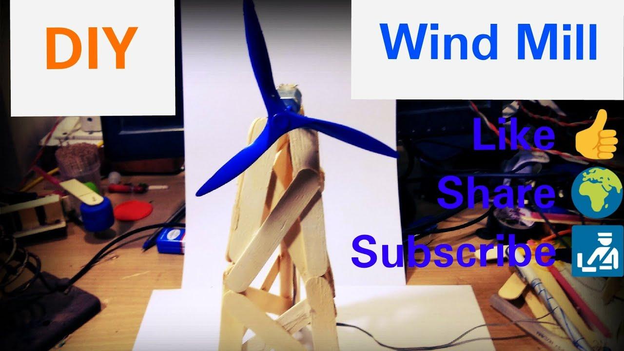 How to make Windmill using Ice Cream Sticks by Manmohan Pal