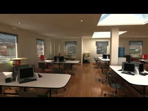 CGI animation of office space