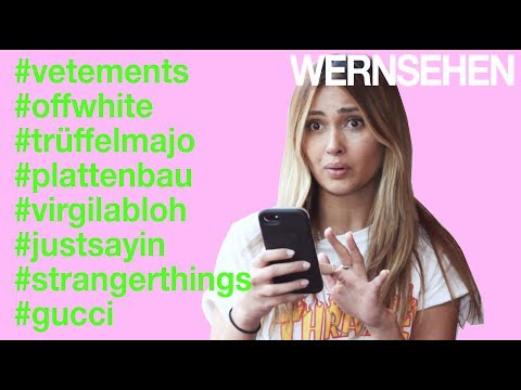 WERNSEHEN   Shit Berlin Fashion Hipsters Say - Part II