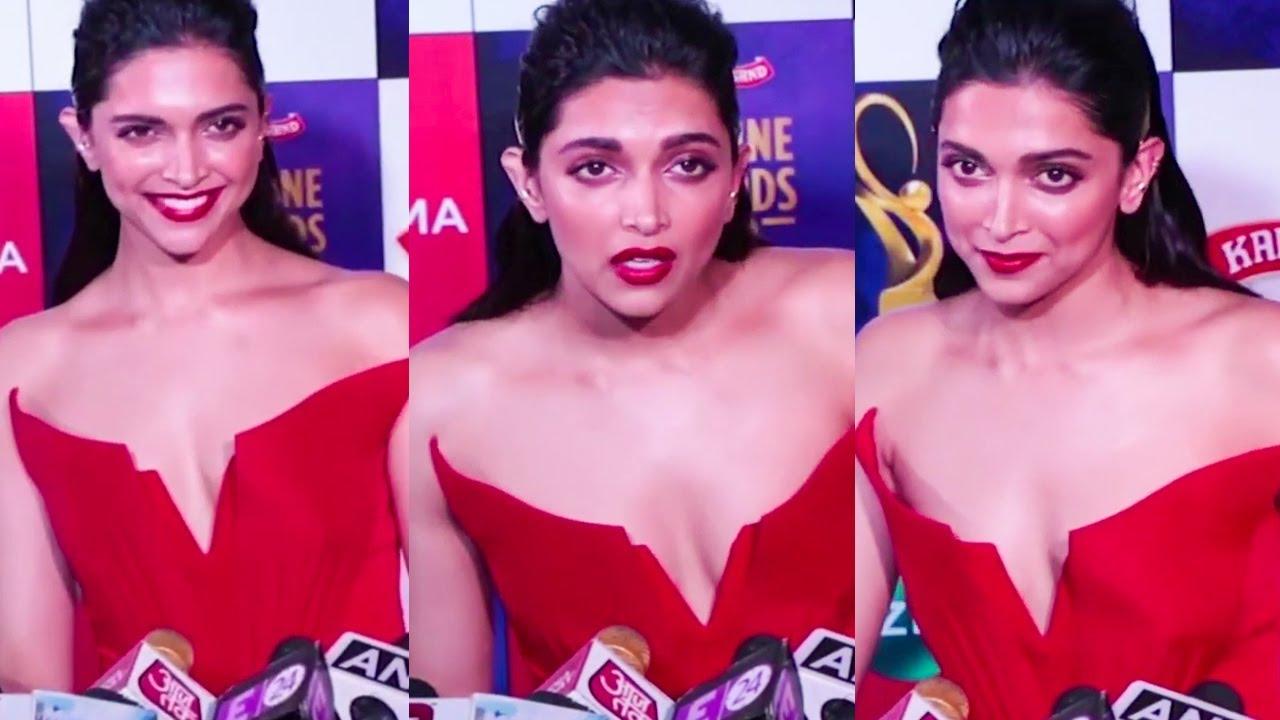 Deepika Padukone in Eye Popping Red Dress #EyeCandy - YouTube