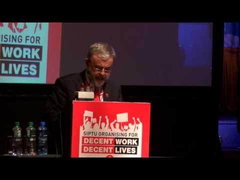 SIPTU President Jack O'Connor announces union campaign for decent work