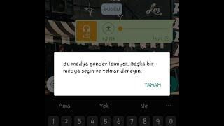 Whatsapp müzik gönderme sorunu
