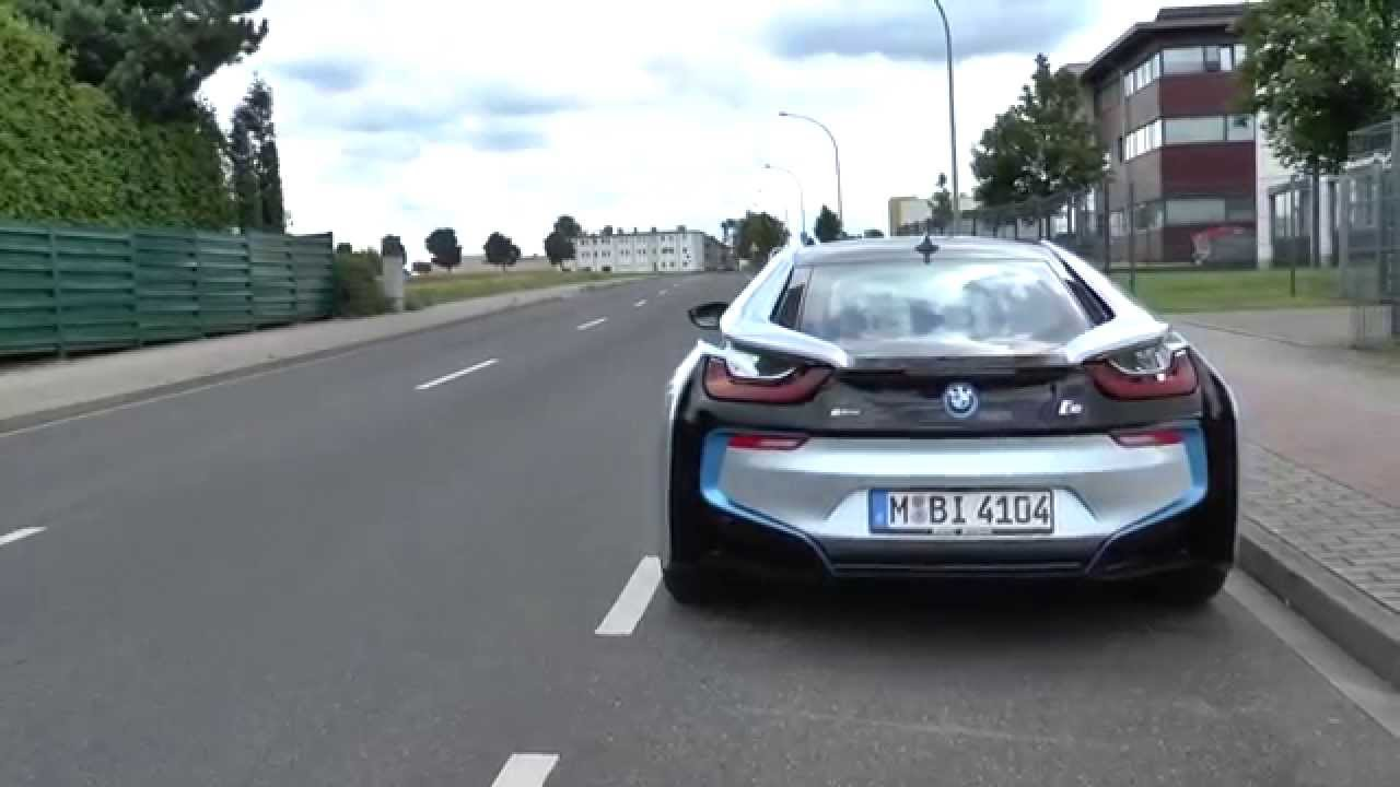 Bmw I8 Start And Driveaway Sound Driving Scene Exhaust Auspuff