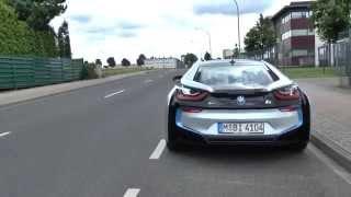 bmw i8 start and driveaway sound driving scene exhaust auspuff