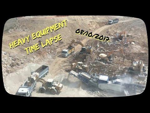 Heavy Equipment Time Lapse , Jerusalem 171008