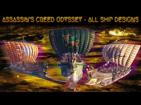 Assassin's Creed Odyssey All Ship Designs Showcase