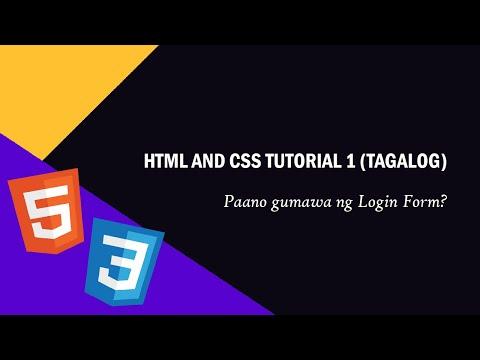 HTML And CSS Tutorial 1 (TAGALOG) - Paano Gumawa Ng Navigation Bar?