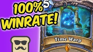 Top 100 LEGEND with 100% Winrate! | QUEST MAGE | DISGUISED TOAST | HEARTHSTONE | THE WITCHWOOD