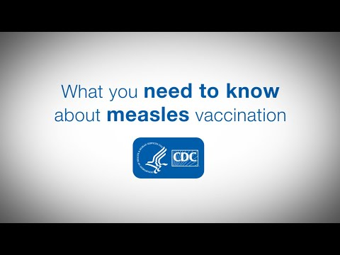 What you need to know about measles vaccination