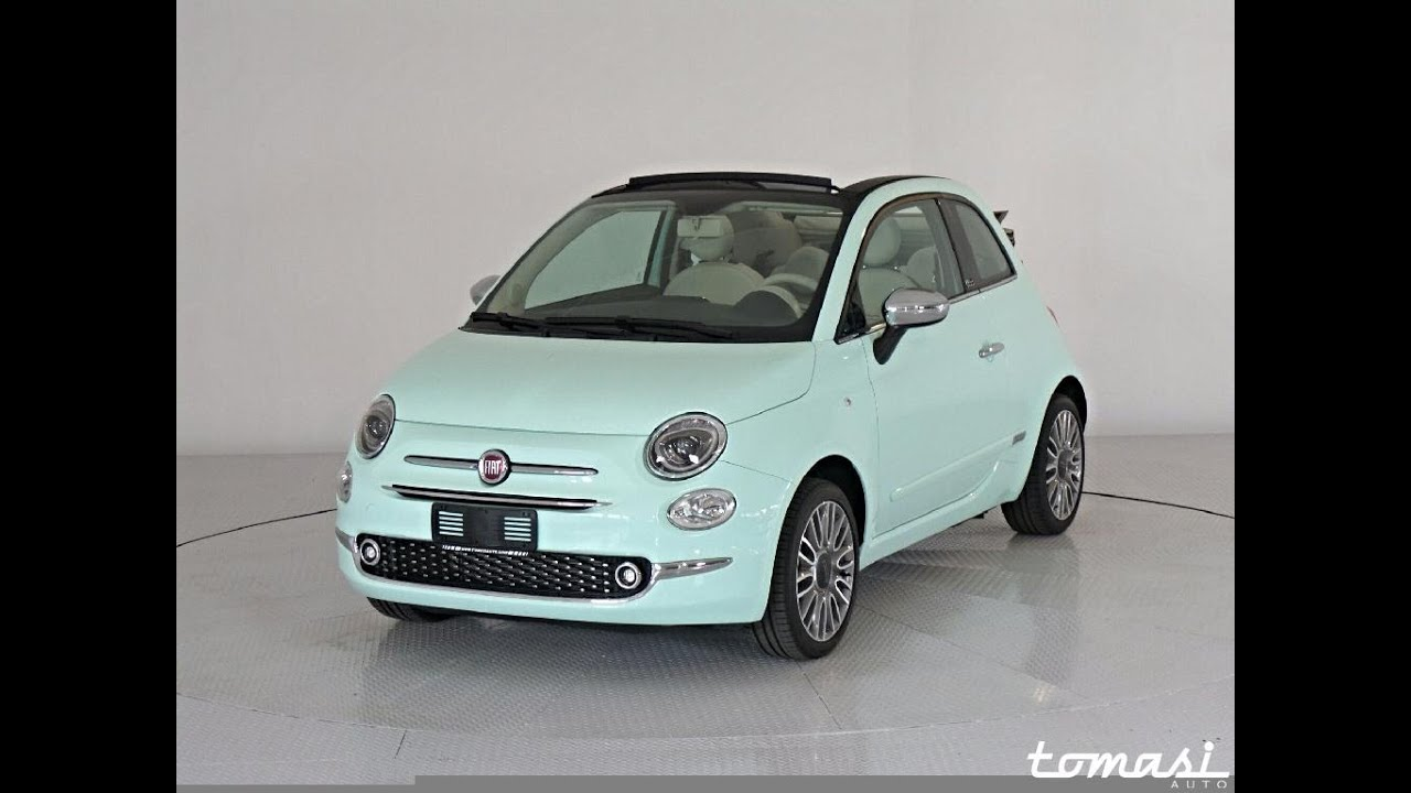 fiat 500 c 1 2 lounge km0 2016 verde lattementa youtube. Black Bedroom Furniture Sets. Home Design Ideas