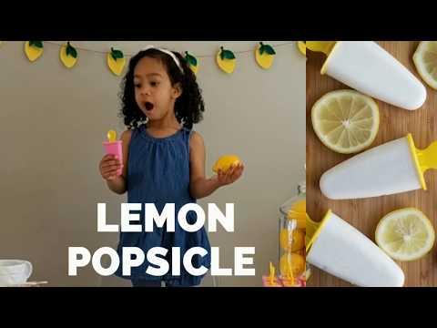 EASY CREAMY VEGAN LEMON POPSICLE RECIPE: How To Make Yummy Homemade Frozen Lemon Pops 4 Ingredients!