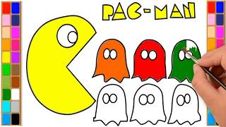 How to Draw Pac-Man | Pacman Coloring Pages | Drawing for Kids