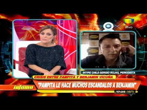 Con mirada asesina, Benjamín Vicuña desmintió cualquier tipo de crisis con Pampita