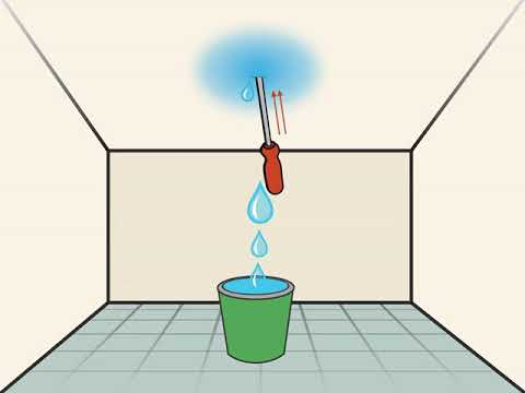 How to Fix a Leaking Ceiling