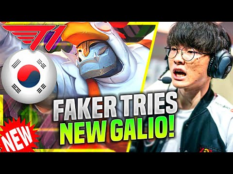"""FAKER TRIES THE NEW GALIO """"E"""" CHANGES! - T1 Faker Plays Galio Mid vs Karma! 