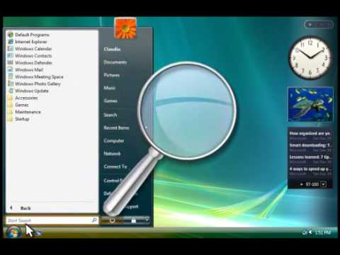 How To Navigate Through Windows Vista