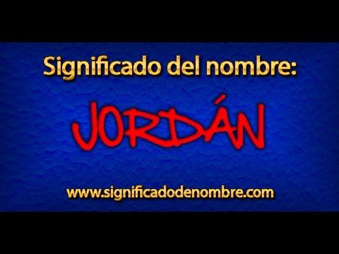 que significa jordan biblicamente