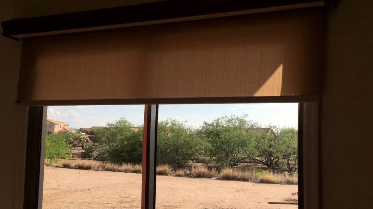 Motorized roller shades on patio door youtube for Roller screens for french doors