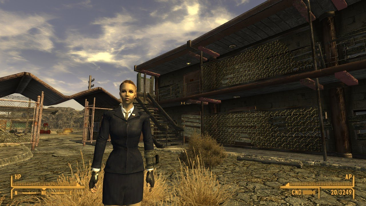 The Armored Business Suit Mod In Fallout New Vegas Youtube