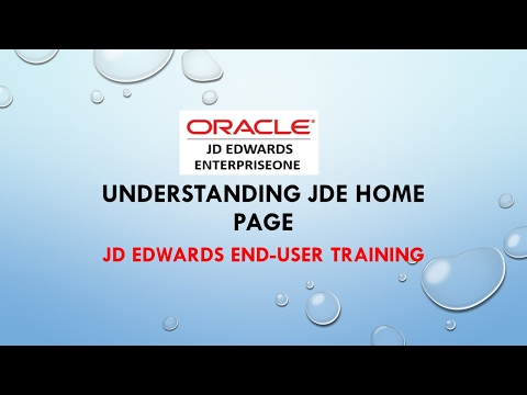 JD Edwards ERP-Understanding JD Edward (JDE) Home Page
