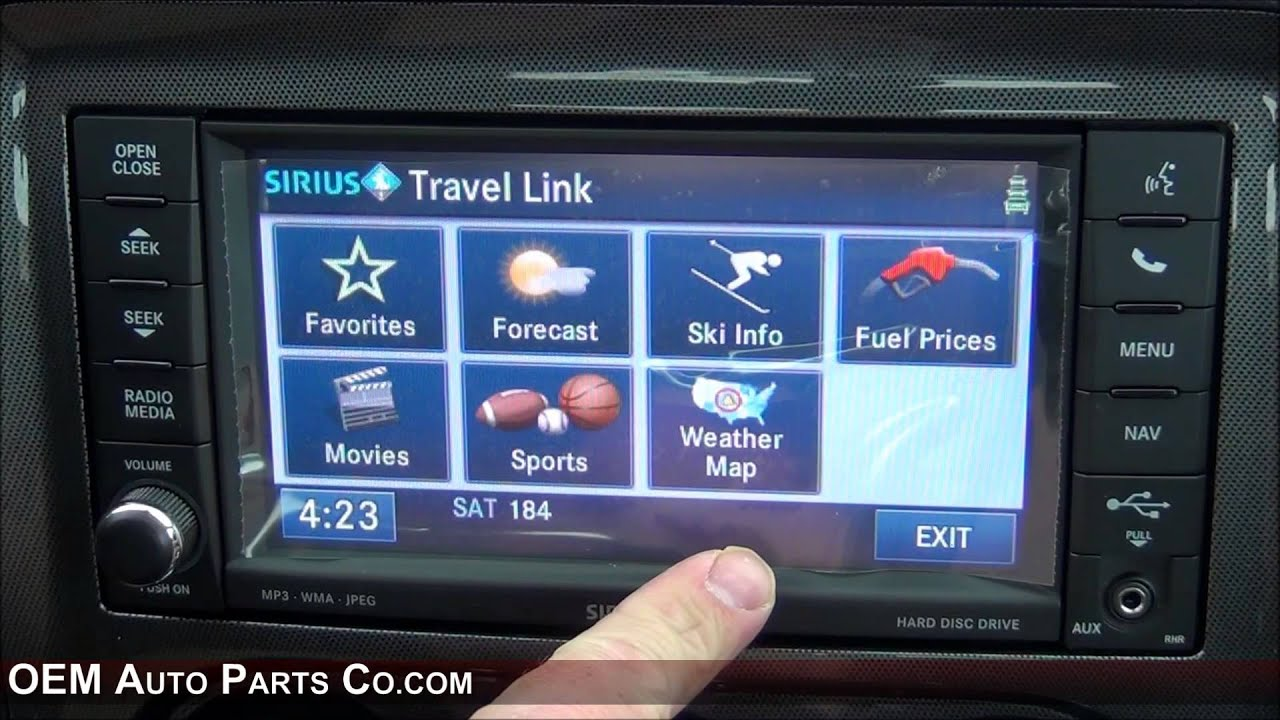 rhr 730n mygig gps navigation radio easy plug play install chrysler dodge jeep ram [ 1280 x 720 Pixel ]