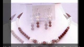 Customize Affordable Jewelry Cognac Dress Bordeaux Wine White Pearls