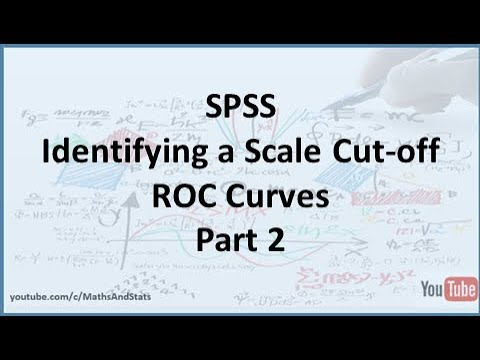 SPSS: How to identify an optimum Cut-Off Point on a Psychometric Scale - Part 2