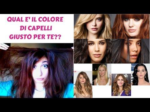 Colore di capelli adatto test