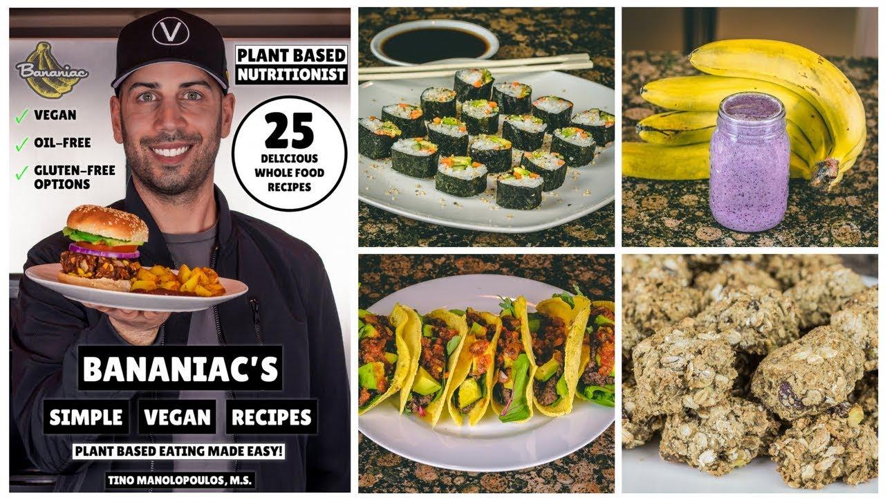 Bananiac's simple vegan recipes ebook 6 year vegan anniversary