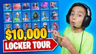 FERRAN'S $10,000 FORTNITE LOCKER TOUR! (RARE SKINS) | Royalty Gaming
