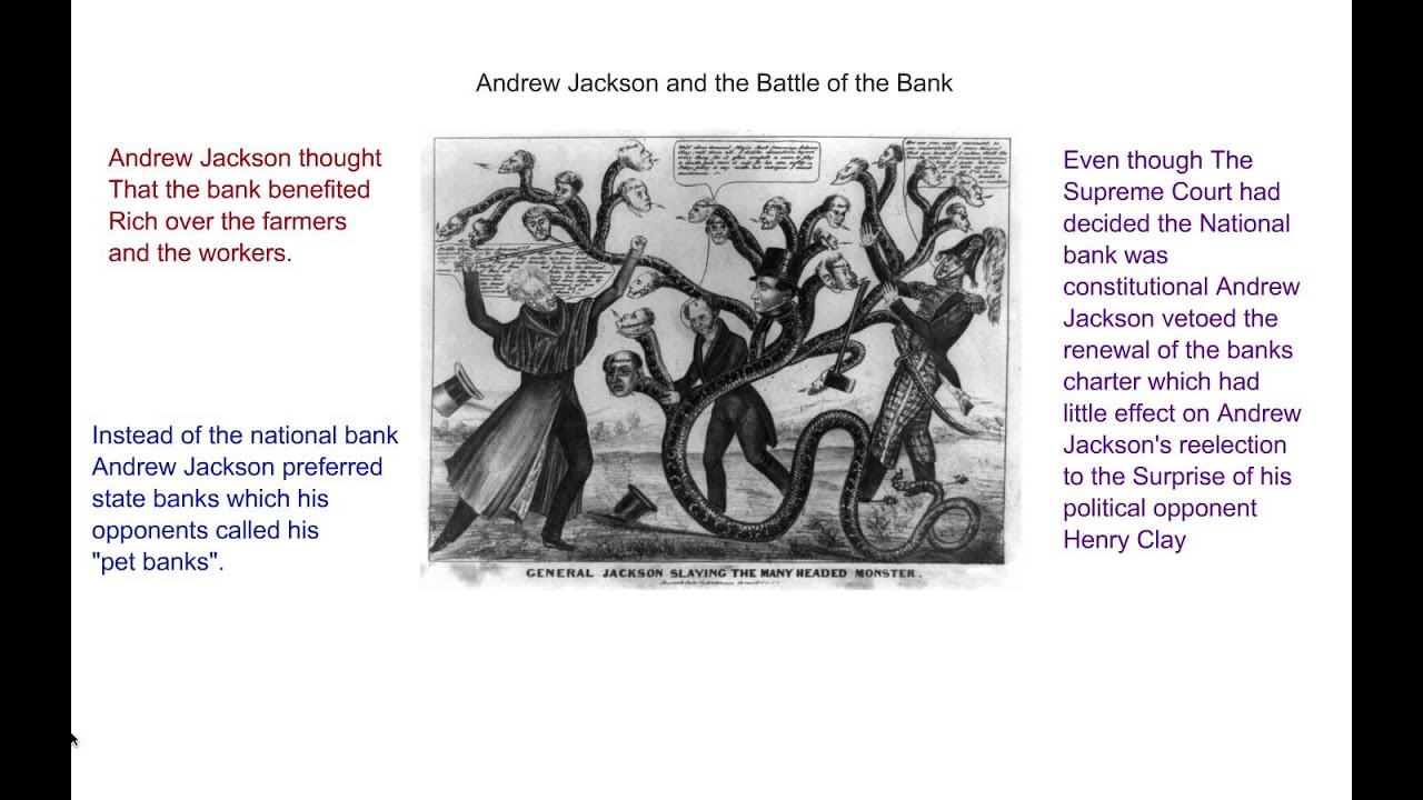 andrew jacksons loathing of eastern money power and the national bank