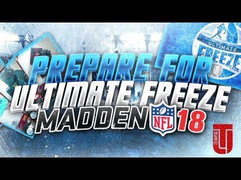 HOW TO PREPARE FOR THE ULTIMATE FREEZE PROMO MADDEN 18!! | BEST TIP TO MAKE MILLIONS OF COINS!!