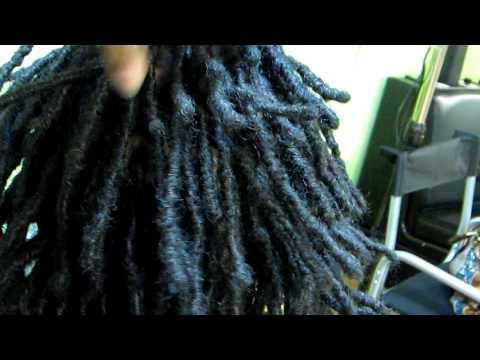 Ms. VahVah's Natural Base Loc Extensions Closeup / Hair By Ms. VahVah